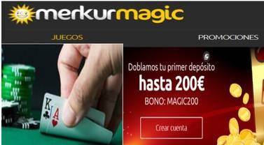 Merkurmagic duplica el primer ingreso hasta 200 euros