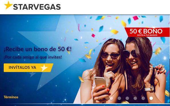 Por primer depósito se reciben hasta 200 euros en Casino Starvegas