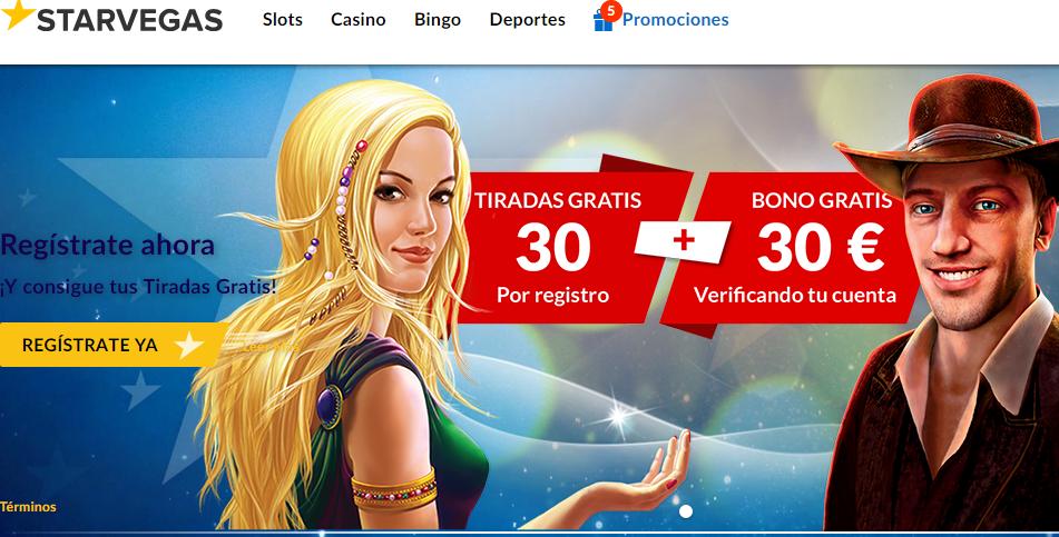 Bono de bienvenida del 100% Casino Starvegas